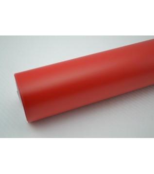 Mattröd vinylfolie(30 meter)