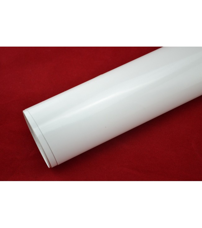 Blankvit vinylfolie(4 Meter)