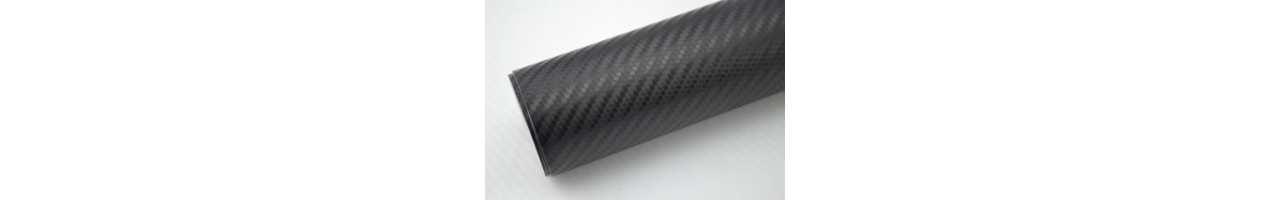 Kolfibervinyl 3D svart