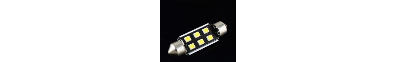 LED diodlampor C5w - 31mm - 36mm - 39mm - 42mm