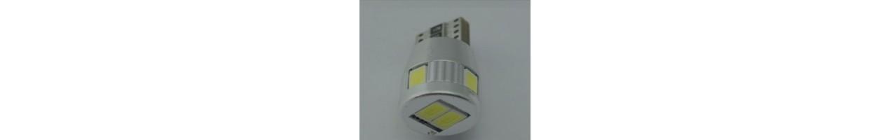 LED diodlampor för t.ex parkeringsljusen. BA9S - H6W - T4W - R5W